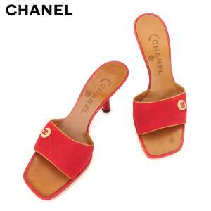 67abfc3cad3b シャネル CHANEL サンダル シューズ 靴 レディース ♯36 ミュール ココボタン 中古