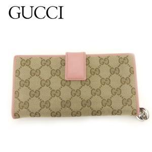 ■管理番号:T8872  【商品説明】 グッチ【GUCCI】の 長財布です。 定番人気のGGキャンバ...