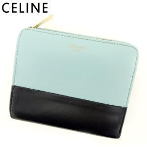 9b3897754163 セリーヌ Celine 二つ折り 財布 財布 レディース メンズ バイカラー 中古