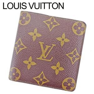6ba9e6da5952 ルイ ヴィトン Louis Vuitton 二つ折り札入れ 二つ折り 財布 レディース メンズ ポルトビエ6 カルトクレディ M60929 モノグラム  中古 人気 良品 T9561
