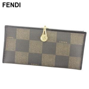 ■管理番号:T9654  【商品説明】 フェンディ【FENDI】の  長財布です。 オシャレなブロッ...