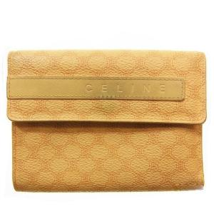 b681124e6fdb セリーヌ Celine 財布 三つ折り財布 マカダム ベージュ ブラウン レディース 中古
