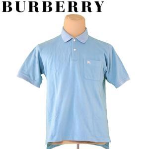 バーバリー BURBERRY ポロシャツ 半袖 カットソー メンズ ♯Lサイズ ホース刺繍 中古 人...