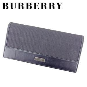 cc60abd4da25 バーバリー ブラックレーベル BURBERRY BLACK LABEL 長財布 ファスナー付き 財布 メンズ チェック 中古 人気 セール B1068