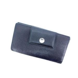 ブルガリ BVLGARI Wホック財布 長財布 メンズ可 ブラック レザー 中古 B506|branddepot