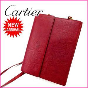 カルティエ Cartier ショルダーバッグ トラベルケース メンズ可 マストライン ボルドー レザー 激安 人気 中古 B626|branddepot