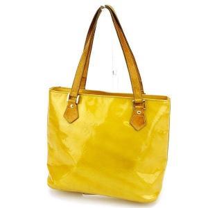 ルイヴィトン Louis Vuitton バッグ トートバッグ ヴェルニ ヒューストン イエロー レディース メンズ 中古 Bag|branddepot