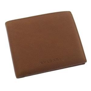 ブルガリ BVLGARI 二つ折り札入れ コンパクトサイズ メンズ可 ロゴ ライトブラウン レザー 良品 人気 中古 C1227|branddepot
