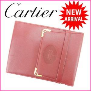 カルティエ Cartier 二つ折り札入れ マストライン ボルドー レザー 美品 人気 中古 C1280|branddepot