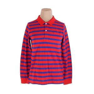 バーバリー Burberry ポロシャツ ボーダー キッズ12Y152 レッド ネイビー メンズ 未...