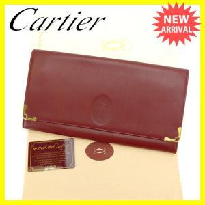 カルティエ Cartier セカンドバッグ クラッチバッグ メンズ可 角プレート付き マストライン ボルドー×ゴールド レザー 良品 セール 中古 C1953|branddepot