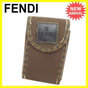 フェンディ FENDI シガレットケース 男女兼用 ペカン 中古 激安 人気 C2255