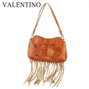 ポイント5倍 ヴァレンティノ Valentino バッグ ショルダーバッグ フラワーモチーフ ブラウン レディース 中古 Bag branddepot