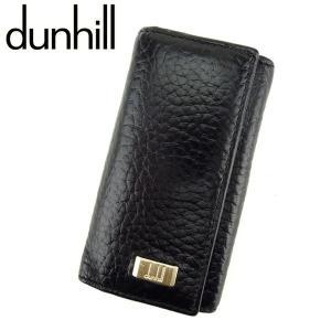 f2350400b3b8 ダンヒル Dunhill キーケース 4連 ロゴプレート ブラック メンズ 中古 Key Case