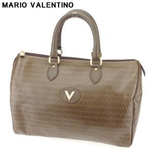 ポイント5倍 マリオ ヴァレンティノ MARIO VALENTINO ボストンバッグ ハンドバッグ レディース メンズ Vマーク 中古 branddepot