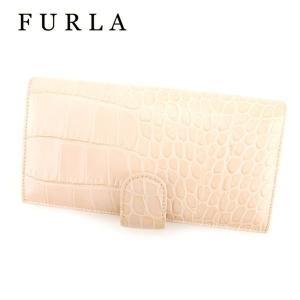0db2f554f1b7 フルラ FURLA 長財布 ファスナー付き 長財布 レディース クロコダイル型押し 人気