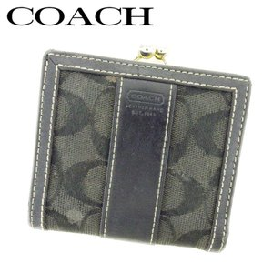 a559b7816b4d コーチ COACH がま口 財布 二つ折り 財布 レディース シグネチャー 中古 人気 E1302