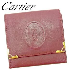 3b536cca5896 カルティエ Cartier コインケース 小銭入れ レディース メンズ マストライン 中古 人気 セール G1388