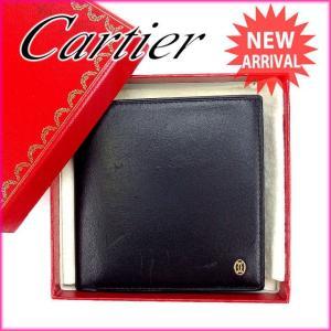 カルティエ Cartier 二つ折り財布 メンズ可 マストライン 中古 未使用品 セール G705|branddepot