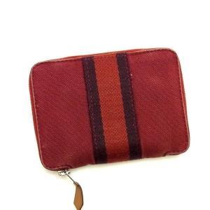 エルメス Hermes 財布 二つ折り財布 フールトゥ パースPM レッド パープル メンズ 中古