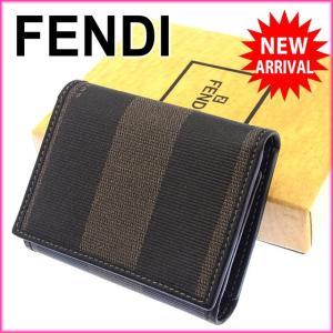 フェンディ FENDI 三つ折り財布 コンパクトサイズ メンズ可 ペカン  中古 激安 セール J9500