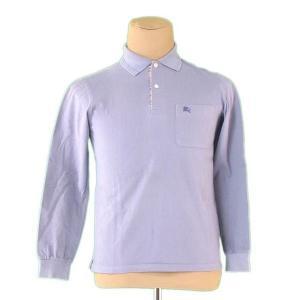 バーバリー Burberry ポロシャツ ホース刺繍 S ブルー メンズ 中古