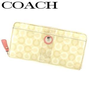 18547eadd488 コーチ COACH 長財布 ラウンドファスナー 財布 レディース オプアート 中古 人気 セール L2481