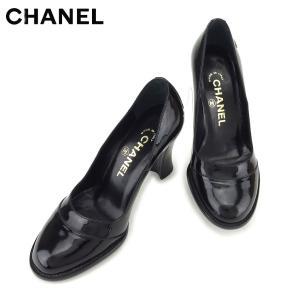 83865bef1a73 シャネル CHANEL パンプス シューズ 靴 レディース ♯34 チャンキーヒール ココマーク 中古
