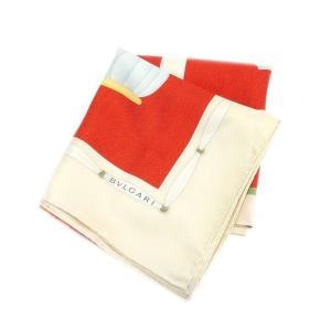 ブルガリ BVLGARI スカーフ 大判サイズ メンズ可 帽子柄 中古 未使用品 セール L561|branddepot