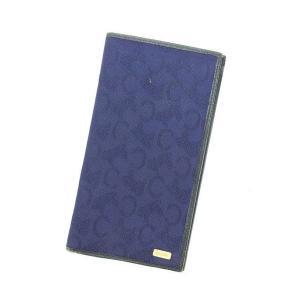 セリーヌ CELINE 長札入れ 二つ折り財布 レディースメンズ可  中古 ヴィンテージ 美品 P419