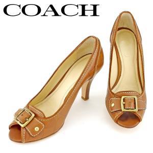 6d4c7fb2dcbc コーチ COACH パンプス シューズ 靴 レディース ♯5B オープントゥ シグネチャー 中古 人気 セール P910