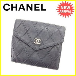 157524a7350b シャネル CHANEL Wホック財布 二つ折り財布 メンズ可 マトラッセ