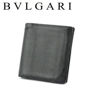■管理番号:T17963  【商品説明】 ブルガリ【BVLGARI】の  二つ折り 財布です。 コン...