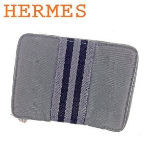 エルメス Hermes 財布 二つ折り財布 フールトゥ パースPM グレー 灰色 レディース メンズ...