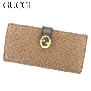 グッチ Gucci 財布 長財布 ブラウン レディース メンズ 中古