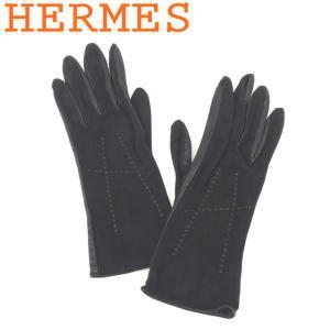 1730880ae131 エルメス HERMES 手袋 グローブ レディース Hモチーフ 中古 人気 良品 T8223