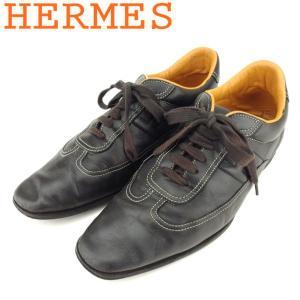 ■管理番号:T8697  【商品説明】 エルメス【HERMES】の 「40ハーフサイズ」 スニーカー...