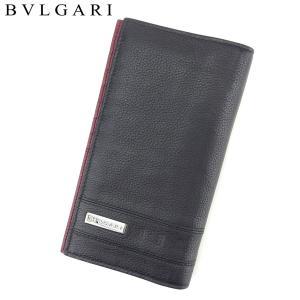aa20493692ee ブルガリ BVLGARI 長財布 ファスナー付き 財布 メンズ 283455 バックル 中古
