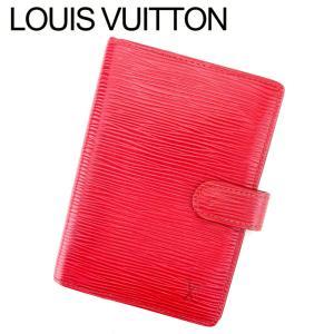 c166faadf0e1 ルイ ヴィトン Louis Vuitton 手帳カバー システム手帳 レディース メンズ アジェンダPM R20057 エピ 中古 人気 良品  T9456
