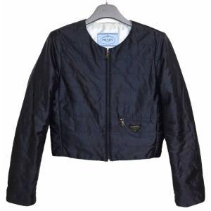 美品 プラダ ロゴ レディース ジャケット ブルゾン レディース カーディガン コート ネイビー 紺|brandeal