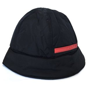 美品 プラダ 帽子 ナイロン ブラック 黒 プラダスポーツ レディース PRADA ハット 軽量 メンズ 男女兼用|brandeal