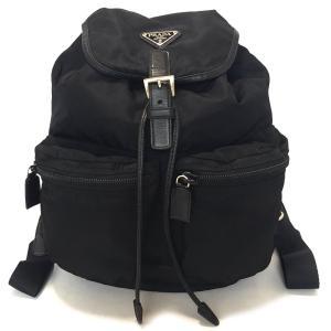 プラダ リュックサック バックパック ナイロン サフィアーノ レザー 黒 ブラック メンズ レディース PRADA リュック 男女兼用 軽量|brandeal