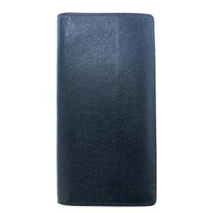 ルイヴィトン 長財布 ポルトフォイユ ブラザ タイガ オセアンブルー 青 M32816 メンズ LV ビトン 財布 二つ折り長財布 レザー|brandeal