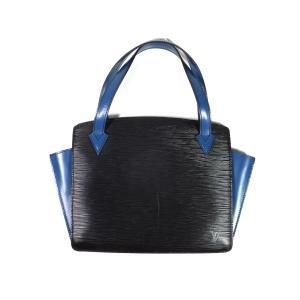 ルイヴィトン エピ ハンドバッグ ヴァレンヌ M52385 バイカラー トレドブルー ブラック 型押し レザー ミニバッグ 青 黒|brandeal
