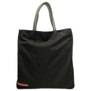 プラダ バッグ トートバッグ プラダスポーツ ブラック 黒 PRADA ナイロン ハンドバッグ 軽量 レディース メンズ 4VZ070 マチなし|brandeal