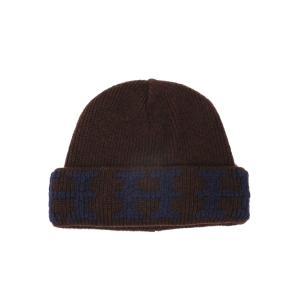新品同様 エルメス ソルド品 帽子 ニット帽 ニットキャップ ME ベージュ ブラウン 茶色 ニット帽子 Hマーク HERMES メンズ レディー|brandeal