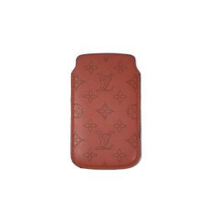 ルイヴィトン スマホケース アイフォンケース モノグラム マヒナ オレンジ レザー iPhone8 アイフォン8 GalaxyS5 メンズ レディース LV|brandeal