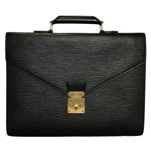 ルイヴィトン コンセイエ ブリーフケース エピ M54422 ビジネスバッグ 書類かばん LV ヴィトン メンズ 黒 ブラック ノワール 書類カバン|brandeal