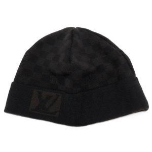 新品同様 ルイヴィトン ニットキャップ ボネ プティダミエ ニット帽 帽子 メンズ LV ウール ダミエ ニット ブラック 黒 ブラウン 茶色|brandeal