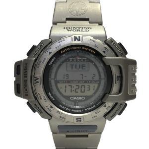 カシオ 時計 プロトレック ハンティングワールド PRT-420 メンズ 紳士用 チタン CASIO...